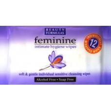 Beauty Formulas Fem Intimate Wipes - 12 Sachets